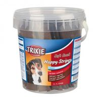 Soft Snack Happy Stripes - hovězí pásky, kyblík 500 g Trixie