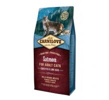 Carnilove Cat Grain Free Salmon Adult Sensitive&Long Hair 6kg
