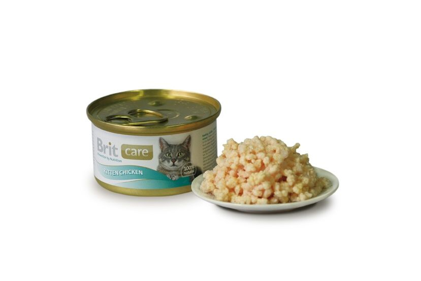 Konz.Brit Care Cat Kitten kureci prsa 80g