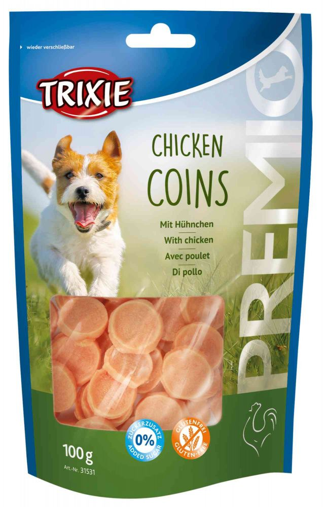 Premio CHICKEN COINS light - kuřecí mince 100g Trixie