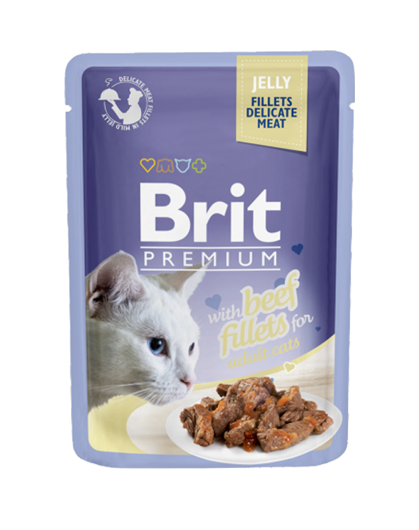 Brit Premium Cat Fillets in Jelly with Beef 85g