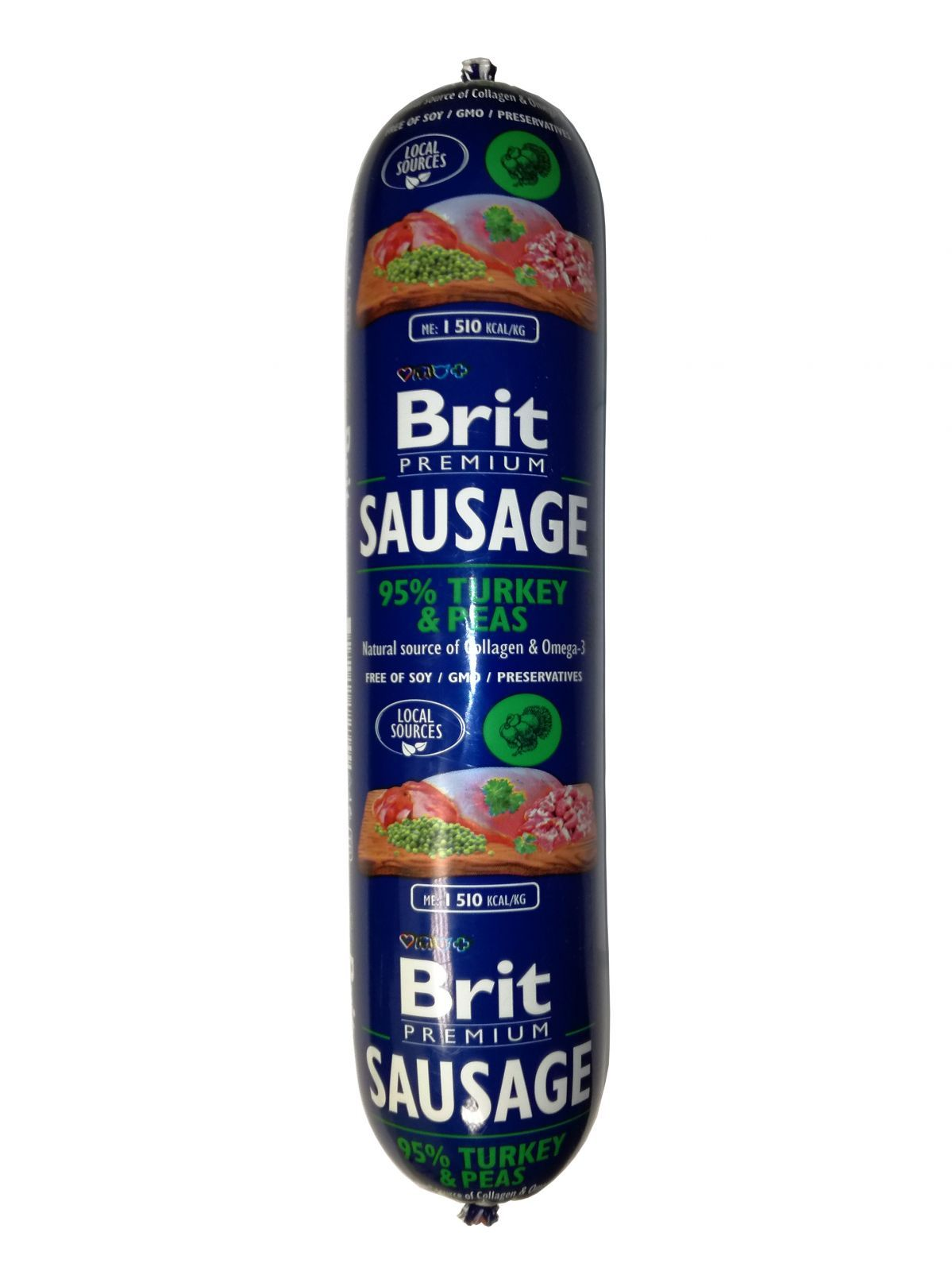 Brit Sausage Turkey & Pea 800g