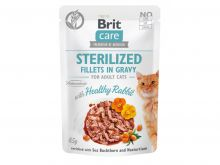 Brit Care Cat Sterilized. Fillets in Gravy Rabbit 85g